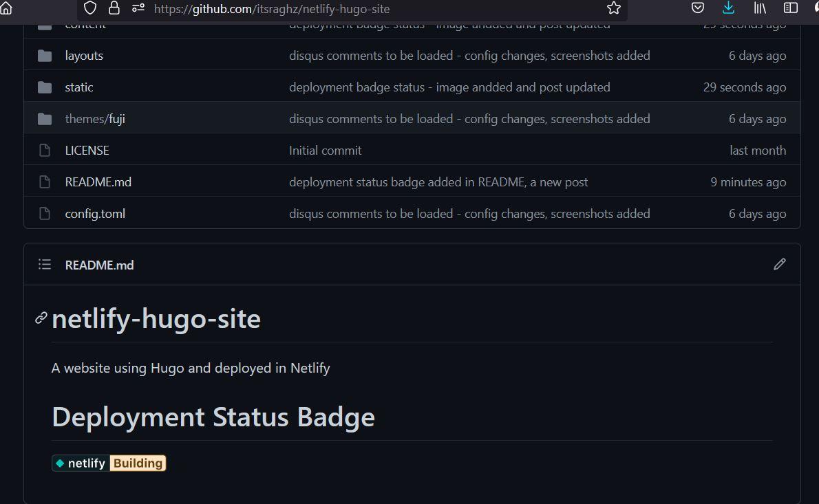 GitHub README status - Building