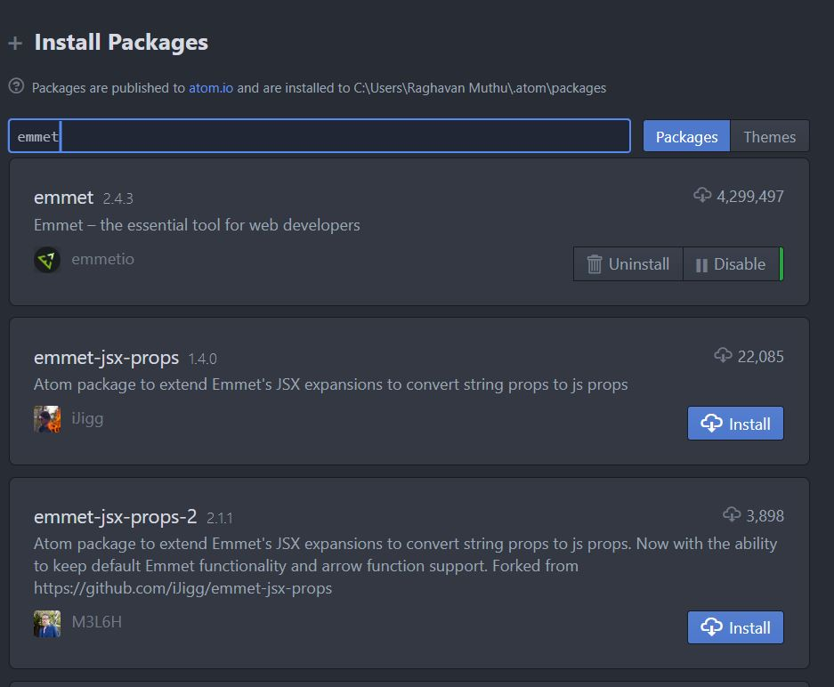 Install Packages